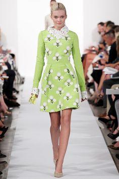 Oscar de la Renta Spring 2014 Ready-to-Wear Collection  #NYFW #style #RTW #woman #flowers #print