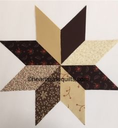 Eight Point Star in brown and tan