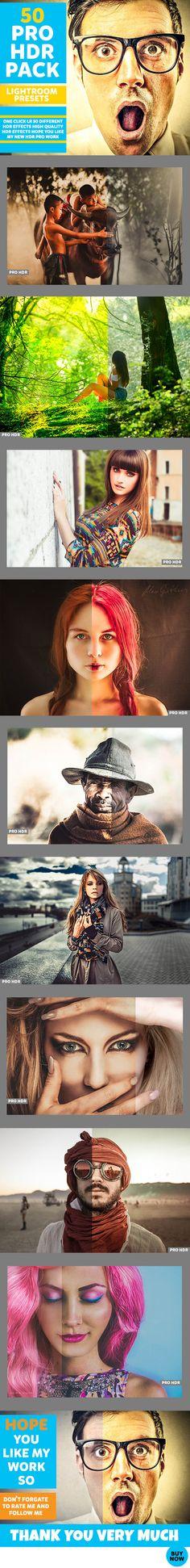50 HDR Lightroom Preset Pack Flyer #photography Download: http://graphicriver.net/item/50-hdr-pack/12876482?ref=ksioks