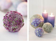 Oasis dekorert med mose, vikletråd, høstlyng og orkide.