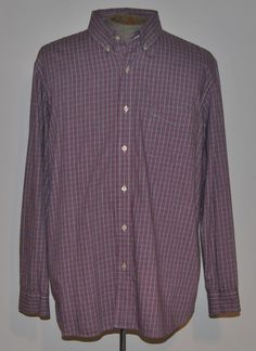 Ralph Lauren Chaps Shirt XL Plaids Classic Fit Button-Down Cotton Long Sleeve #RalphLaurenChaps free shipping auction starting at $12.99