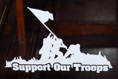 Support our troops vinyl decal window by stevesvinylstickers, $6.00