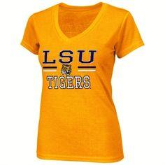 LSU Tigers Pride Ladies Gold V-Neck Tee