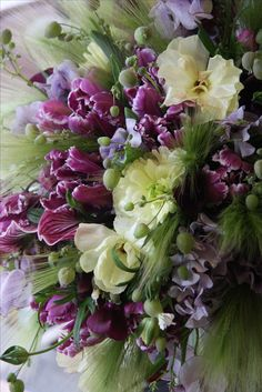 tulip,ranunculus,sweet pea and orchid