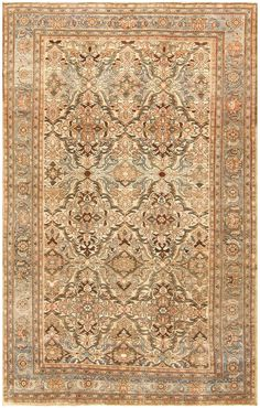 Antique Persian Malayer Rug 48292 antique persian malayer rug 48292 detail