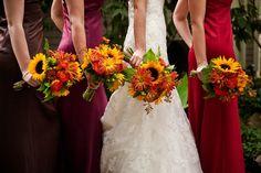 Nashville Garden Wedding Venue | CJ's Off the Square | Fall Flowers - Photo:  Myrick Studios