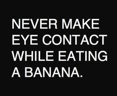 Banana etiquette.