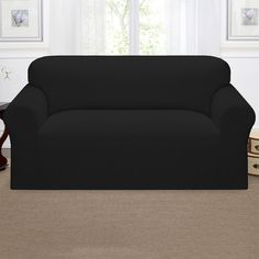 sure fit deluxe nonslip waterproof loveseat furniture protector graphite grey solid products