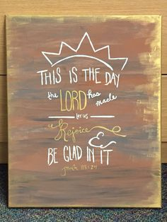 Inspired by and her ability to create a beautiful canvas! Psalm 118, Psalms, Project Ideas, Projects, Dorm Ideas, How To Memorize Things, Artsy, Lord, Christian