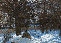 Bo Larsson, Sunlit Winter Landskape