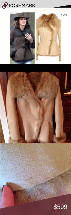 LK Bennett Darwin Shearling sheepskin jacket In excellent condition. 2 small marks that are not visible without looking intently and possible could be removed. Retail price $1250 USD. Sold out everywhere! LK Bennett Jackets & Coats