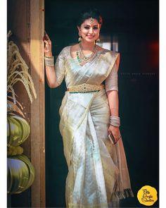 Top 5 South Indian Wedding Saree Trends Actress Sneha Wears Uppada T To Bridal Sarees South Indian, Bridal Silk Saree, Indian Bridal Fashion, Saree Wedding, Indian Wedding Sarees, South Indian Bride Jewellery, South Indian Weddings, Indian Jewellery Design, Half Saree Designs