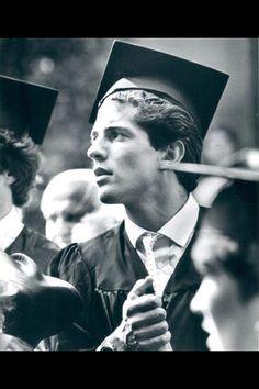 JFK Jr. graduating from Brown University, 1983