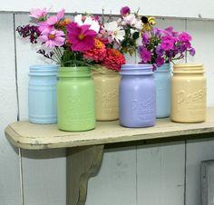 Painted mason jars.