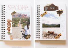 Create this easy, DIY travel journal to remember and share all of our favorite travel adventures! Use simple scrapbooking tools and follow this tutorial to make yours!