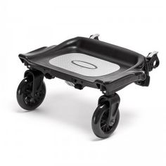 The Glider Board is an accessory for use with Baby Jogger strollers so older siblings can hitch a ride.