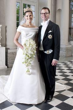 Ein #Brautpaar, das Sehnsüchte weckt: #Victoria von Schweden und Daniel Westling. Die königliche #Hochzeit war am 19.06.2010.