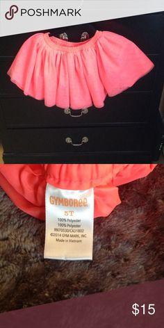 Gymboree tutu style girl skirt size 5 Gymboree tutu style girl skirt size 5 see tags for materials NWOT super cute color is a bright orange almost bright pink Gymboree Skirts Mini