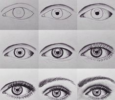 How to draw eyebrows and eyelashes drawing 그림 그리기, 눈 그림 и 예술 Bird Drawings, Cool Drawings, Pencil Drawings, Eye Drawings, Drawing Birds, Drawing Lessons, Drawing Techniques, Sketch Painting, Drawing Sketches