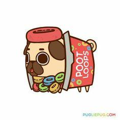 Pug lie Poot loops