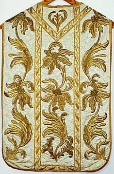 Gold embroidered chasuble, end of 18th c., in the convent of Glattburg.