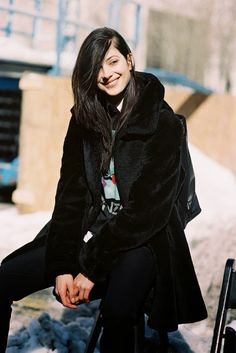 German model Larissa Hoffman, NYC, February 2014 | Vanessa Jackman | New York Fashion Week AW 2014
