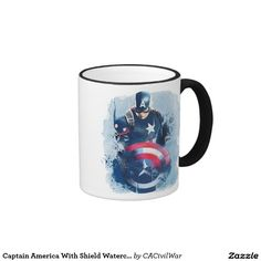 Captain America With Shield Watercolor