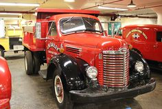 1947 International Harvester dump truck and shows what its trucks looked like right after the Second World War.