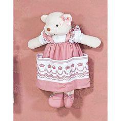 Ursa Porta Fraldas - Coleção Elegance Rosé - Tecido Percal 200 Fios