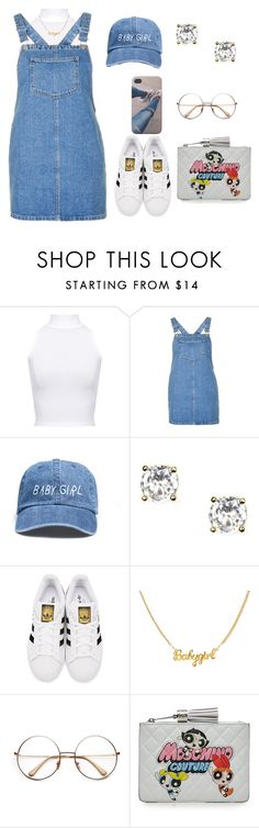"""""""4:11"""" by exoticmelanin ❤ liked on Polyvore featuring WearAll, Topshop, Givenchy, adidas Originals and Moschino"""