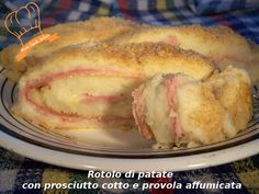 Rotolo di patate con prosciutto cotto e provola affumicata