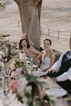 R E A L // W E D D I N G S – NATALIE DEAYALA COLLECTIONdove grey bridesmaid dresses, santa barbara wedding.… long farm table reception
