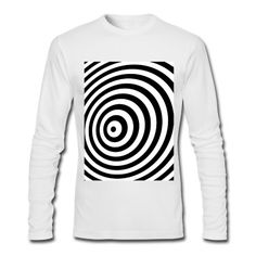 Tee shirt manches longues Illusion de géométrie minimale en noir et blanc  #cloth #cute #kids# #funny #hipster #nerd #geek #awesome #gift #shop