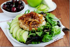 #Turkey #burgers and #apple slices are the perfect combination. Get this recipe.