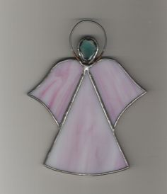 my pink stained glass angel... made almost 30 years ago...