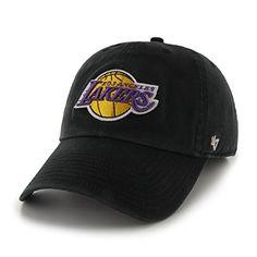 NBA Los Angeles Lakers '47 Clean Up Adjustable Hat, Black, One Size  http://allstarsportsfan.com/product/nba-los-angeles-lakers-47-clean-up-adjustable-hat-black-one-size/  Adjustable strap closure - one size fits all Made from 100% Cotton Twill; Relaxed Fit Garment washed for softer look & feel