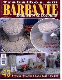 Vida Pink - Meus Crochês: Trabalhos em Barbante - Cozinha e Banheiro