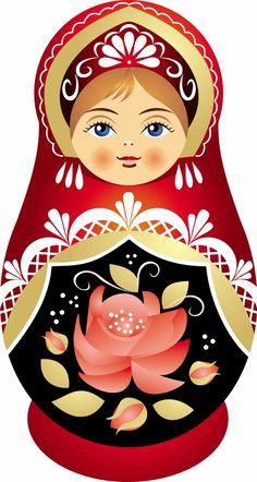 Matryoshka - Russian nesting doll. Vector clipart.