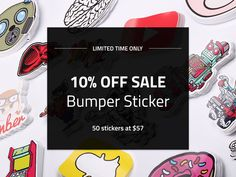 ...because we listen, #OzStickerPrinting 10% OFF SALE of BUMPER STICKERS is extended. No setup charges. FREE SHIPPING. Quality guaranteed. Hurry!  #StickerSale #Stickers #Australia #BumperSticker #OffSale #Limited #Classic #Label #Custom #GreatSelection #Durable #Display