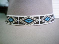 Native American Style Beaded Hat Band~Peyote Beaded Hatband