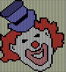 Clown Knitting Chart