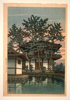 Kikoji temple, Nara  Hasui