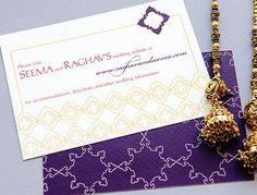 Indian wedding invitation - web card