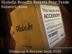 "Crunchy Parent GlobeIn Benefit Basket Fair Trade Subscription unboxing & review September 2015. ""Wellness"" theme."
