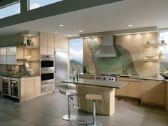 Built In Appliances Terrazzo Countertop
