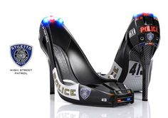 Community Post: These Police Stilettos Will Make Great Stripper Shoes Crazy High Heels, Crazy Shoes, Me Too Shoes, Weird Shoes, Designer High Heels, Designer Shoes, Shoes Wallpaper, Car Shoe, Stripper Shoes
