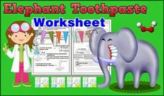 Love Science with Smiley Teacher : Elephant Toothpaste Science Experimental Worksheet...