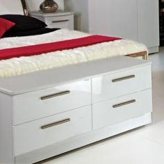 Buy Welcome Furniture Knightsbridge 4 Drawer Bed Box - White - White from our Chests of Drawers range - Tesco.com 269.00