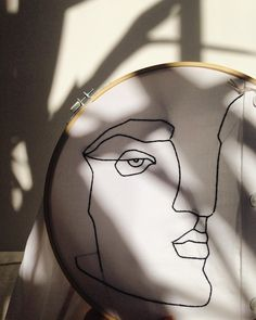 Sofia Salazar embroidered portraits