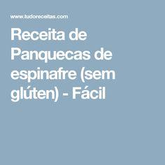 Receita de Panquecas de espinafre (sem glúten) - Fácil